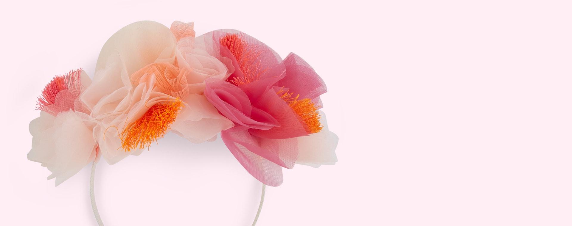 Pink Meri Meri Pink Floral Headband