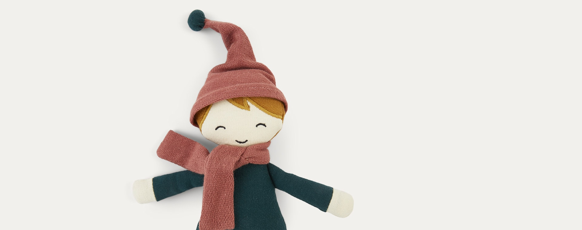 Green Fabelab Forest Elf Doll