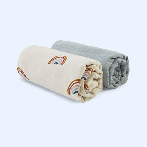 Rainbow Fabelab Swaddle 2 Pack