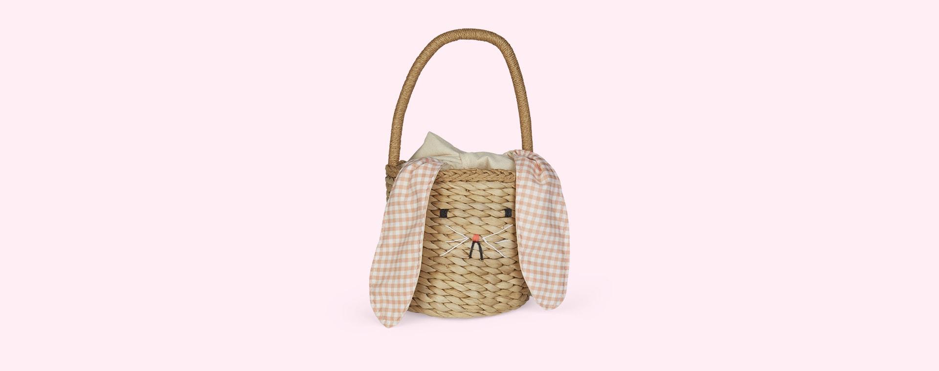 Neutral Meri Meri Bunny Woven Straw Bag