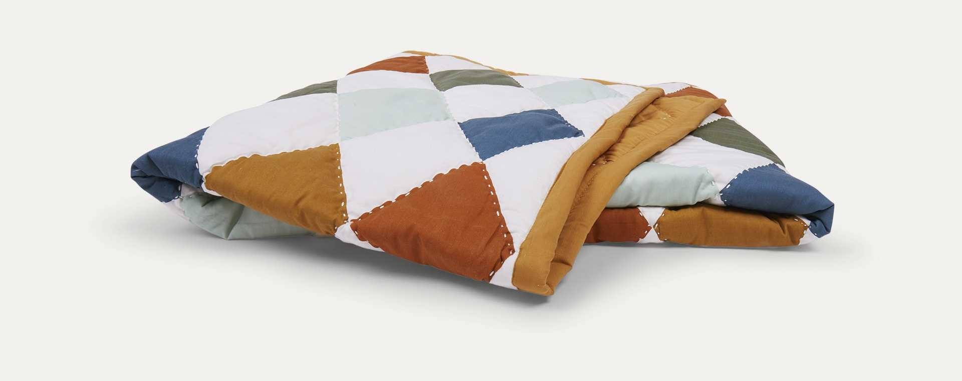 Multi Fabelab Patchwork Diamond Blanket