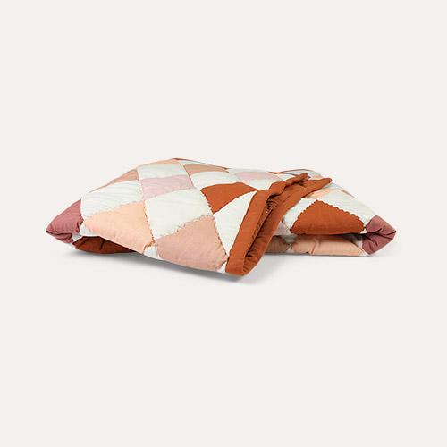 Rose Mix Fabelab Patchwork Diamond Blanket