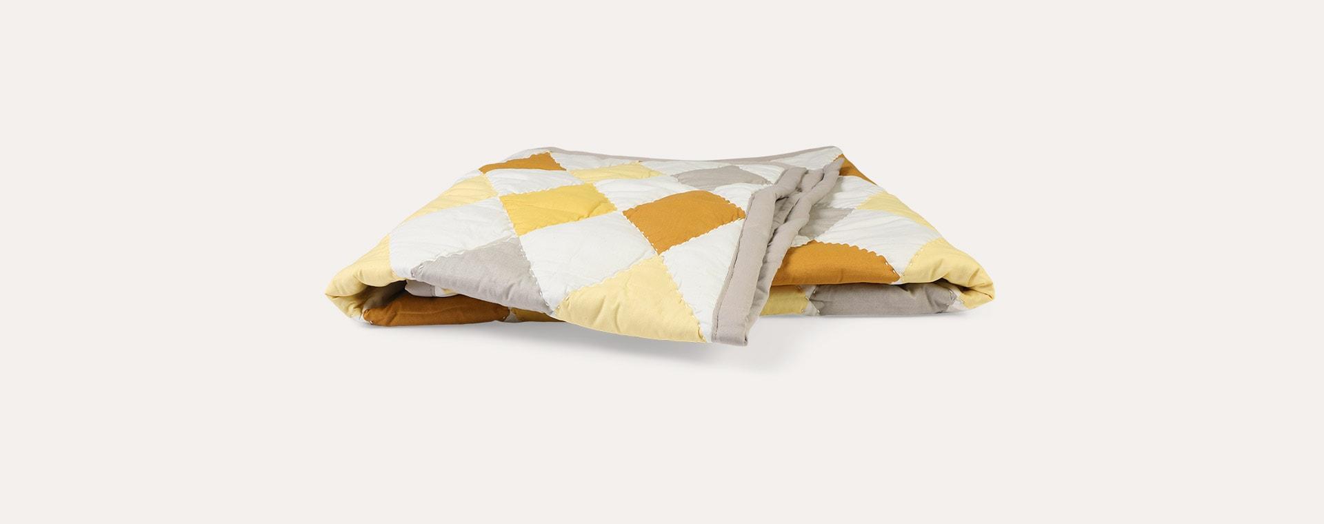 Yellow Mix Fabelab Patchwork Diamond Blanket
