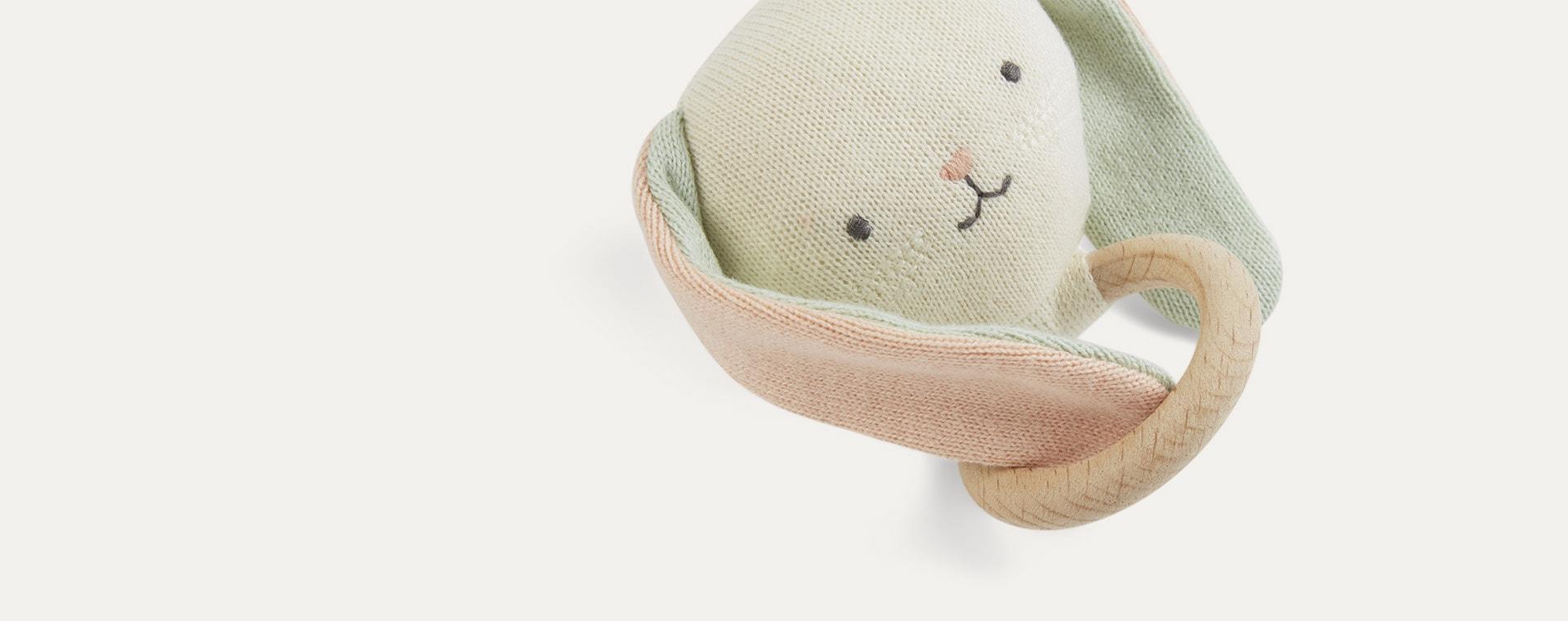 Multi Meri Meri Bunny Baby Rattle