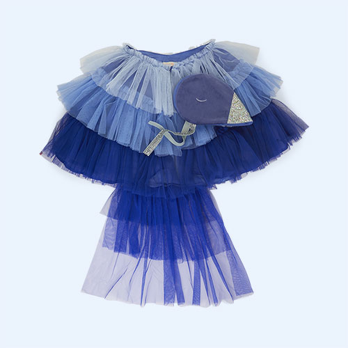 Blue Meri Meri Blue Bird Cape Dress Up