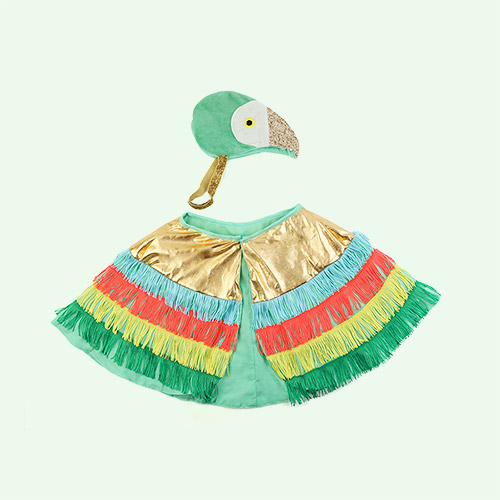 Multi Meri Meri Parrot Fringed Cape Dress up