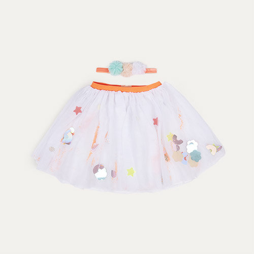 Multi Meri Meri White Sequin Tutu And Headband