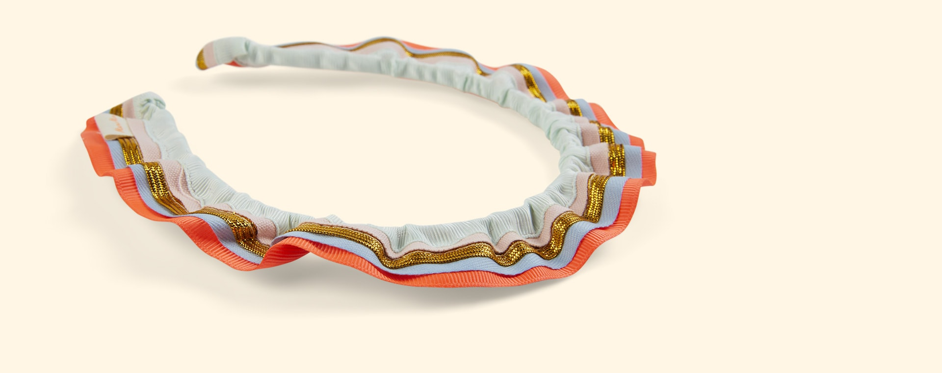 Multi Meri Meri Rainbow Ruffle Headband