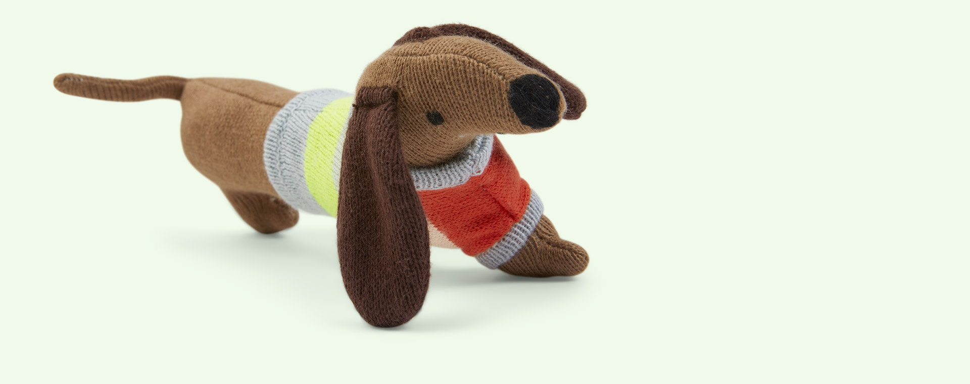 Brown Meri Meri Sausage Dog Rattle