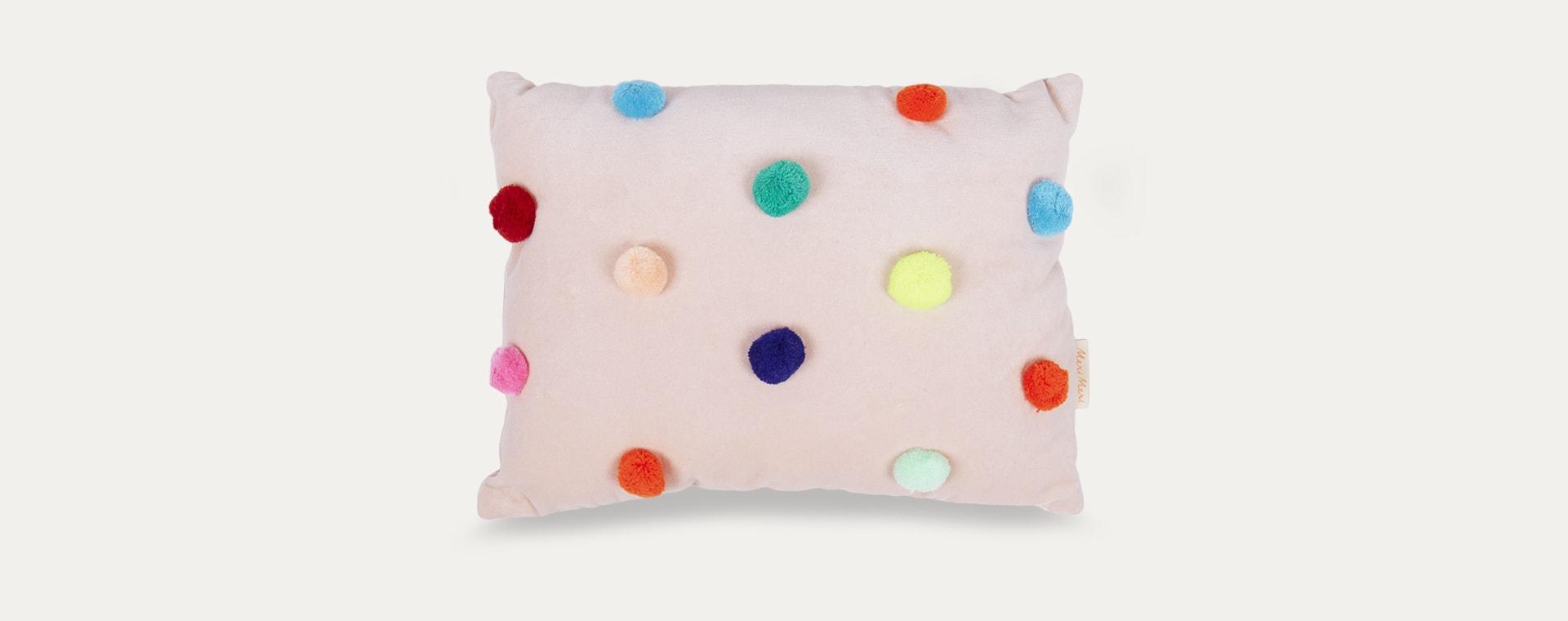 Multi Meri Meri Pom Pom Velvet Cushion