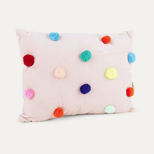Multi Meri Meri Pom Pom Velvet Cushion