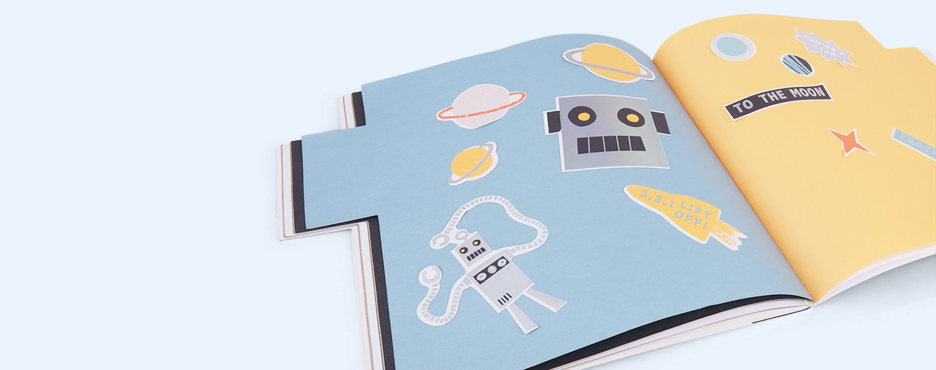Robot Meri Meri Sticker And Sketchbook