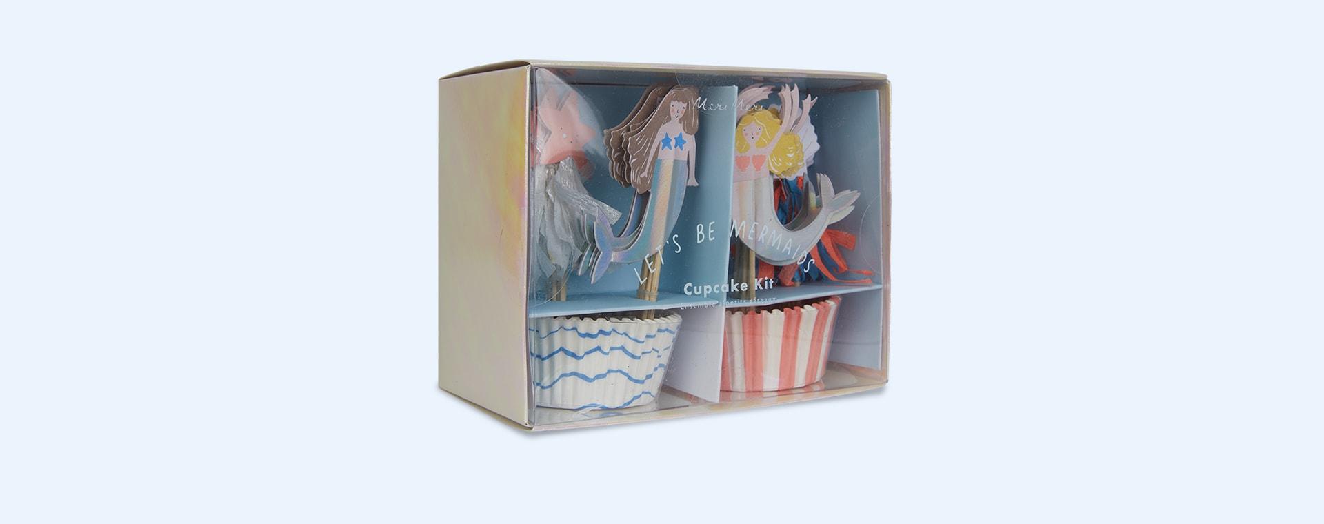 Lets Be Mermaids Meri Meri Cupcake Kit