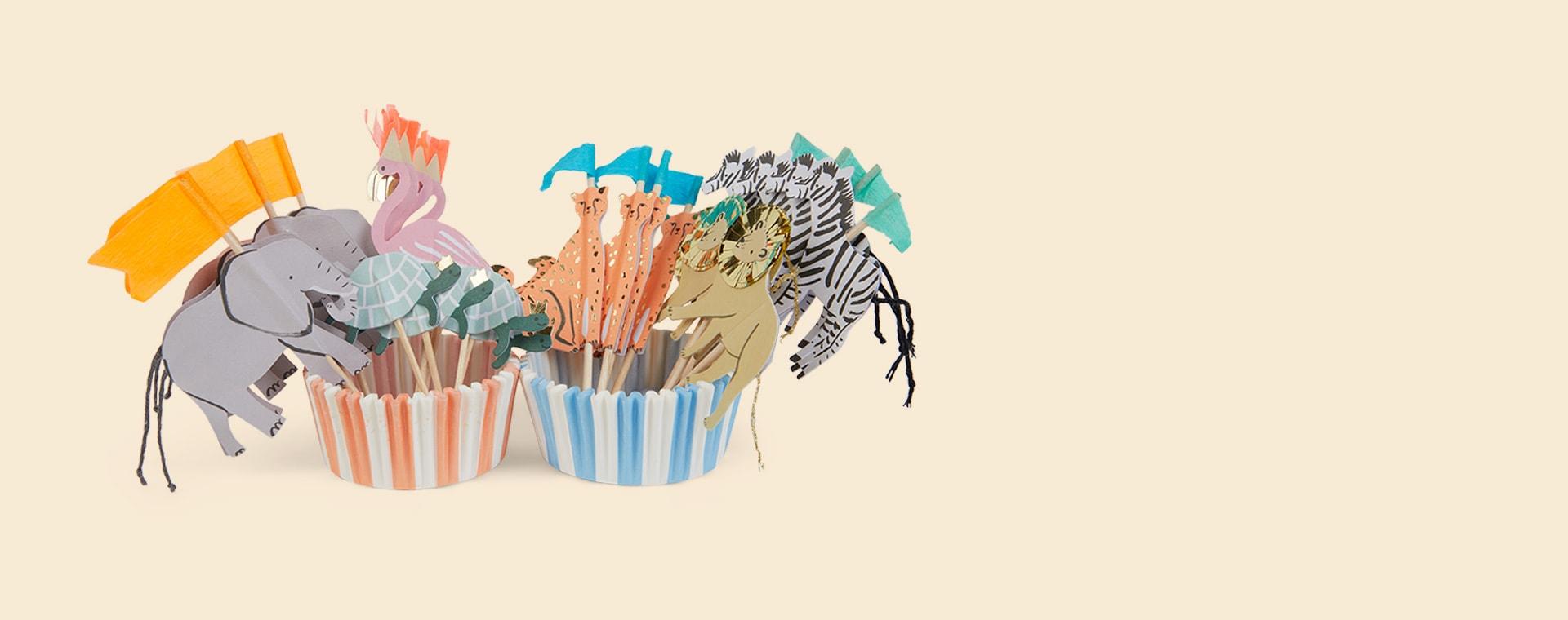 Safari Animal Meri Meri Cupcake Kit