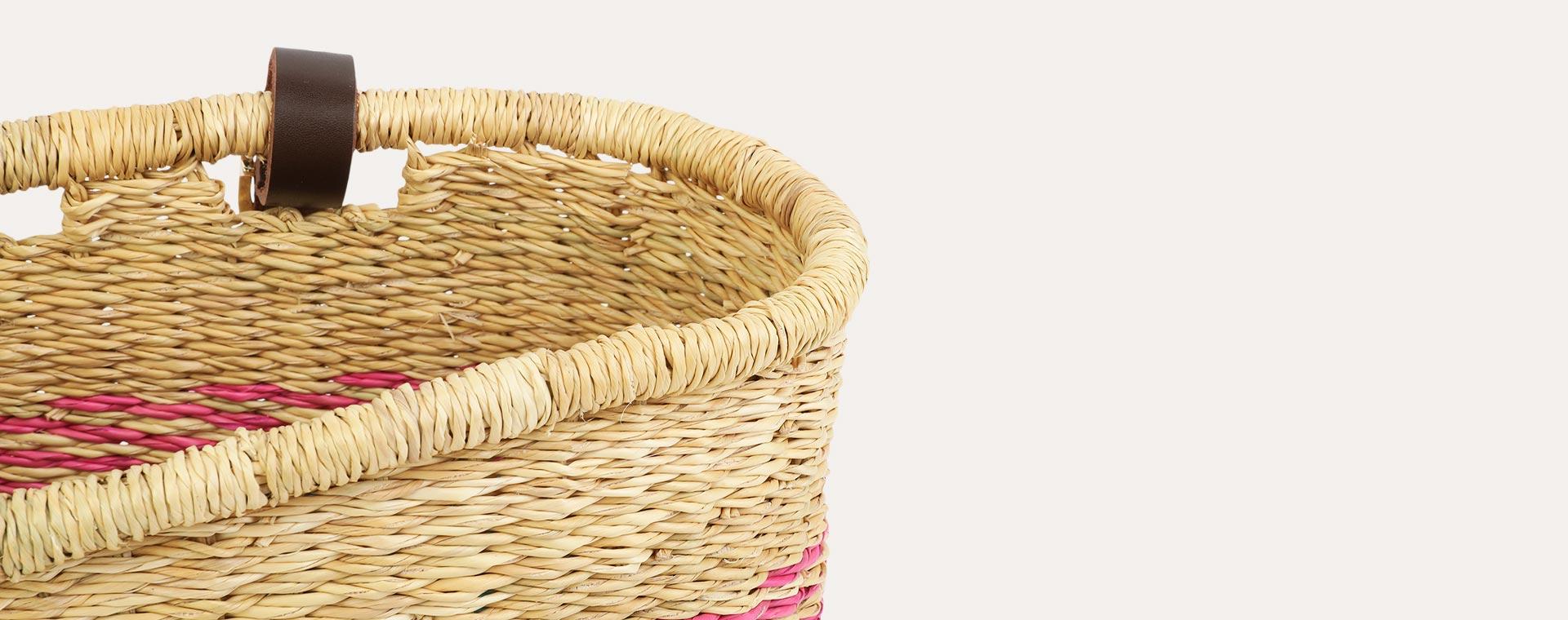 Pink/Turquoise The Basket Room Bike Basket