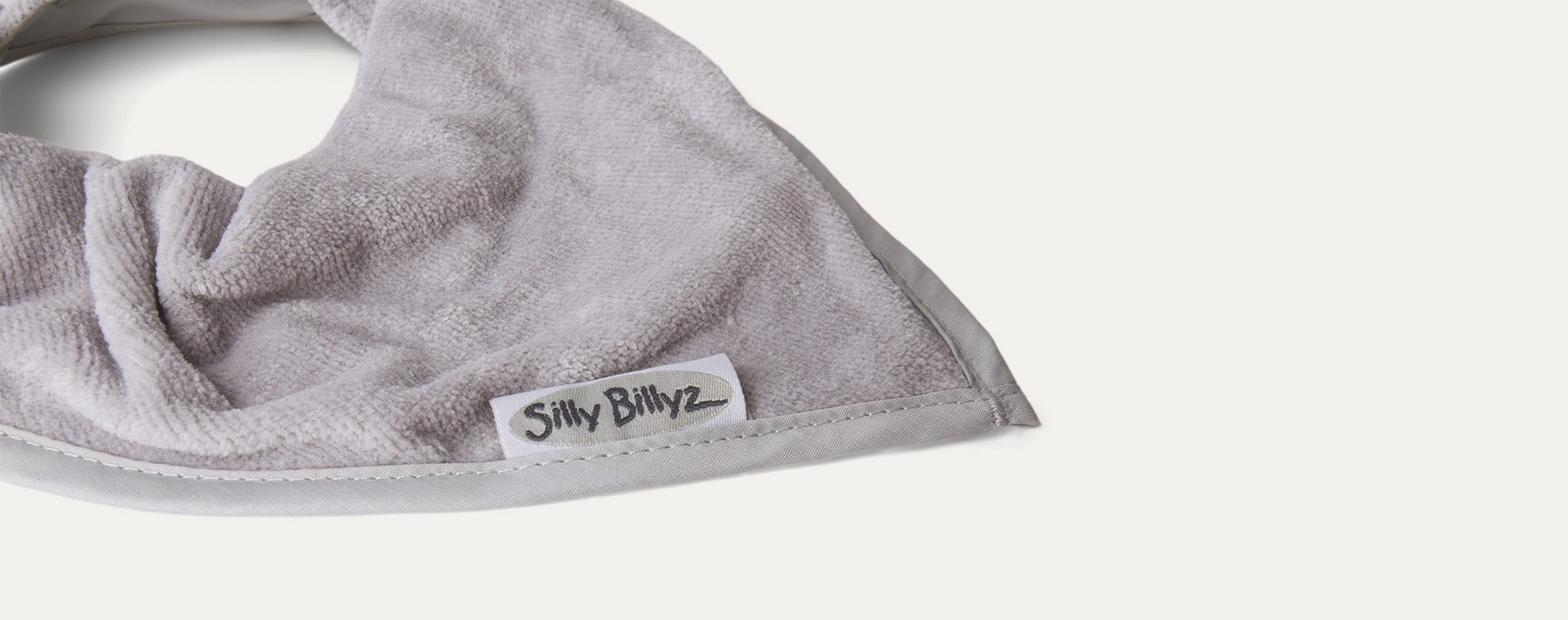 Light Grey Silly Billyz Bandana Bib