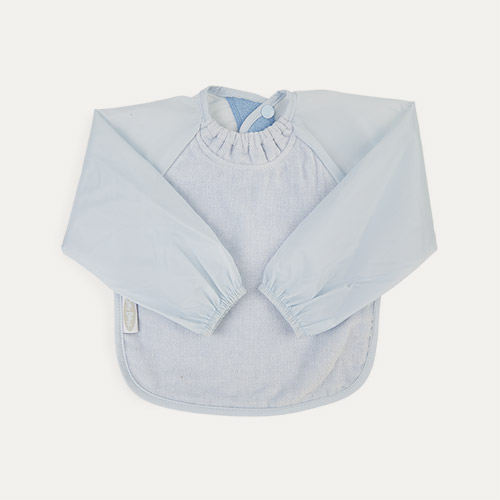 Dusty Blue Silly Billyz Long Sleeve Bib