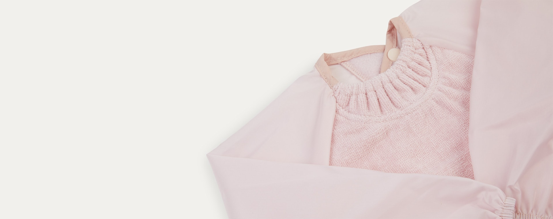 Antique Pink Silly Billyz Long Sleeve Bib