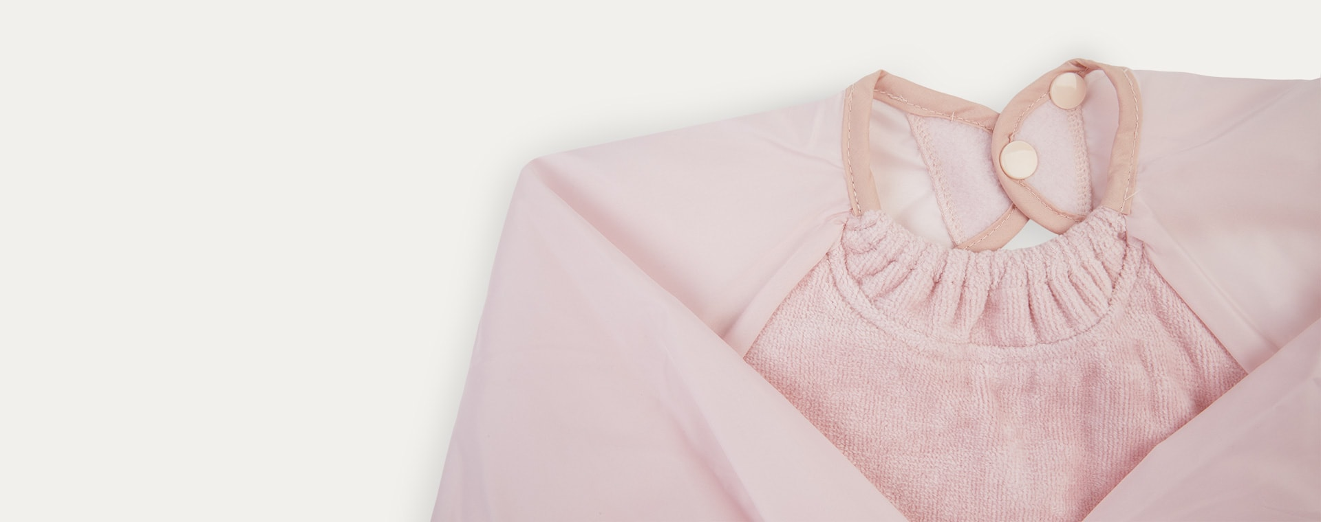 Antique Pink Silly Billyz Long Sleeve Messy Eater Bib
