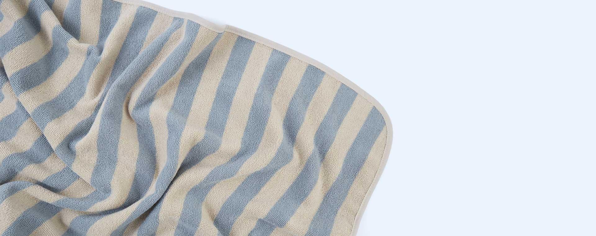 Sea Blue/Sandy Stripe Liewood Louie Hooded Towel