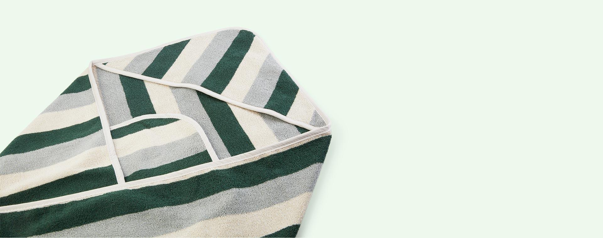 Garden Green Sandy Dove Blue Liewood Louie Hooded Junior Towel