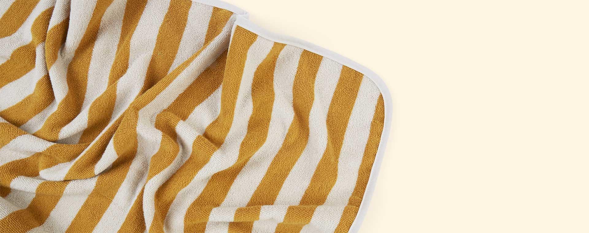 Yellow Mellow/Sandy Stripe Liewood Louie Hooded Towel