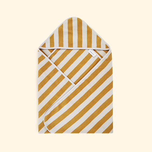 Yellow Mellow/Sandy Stripe Liewood Louie Hooded Towel