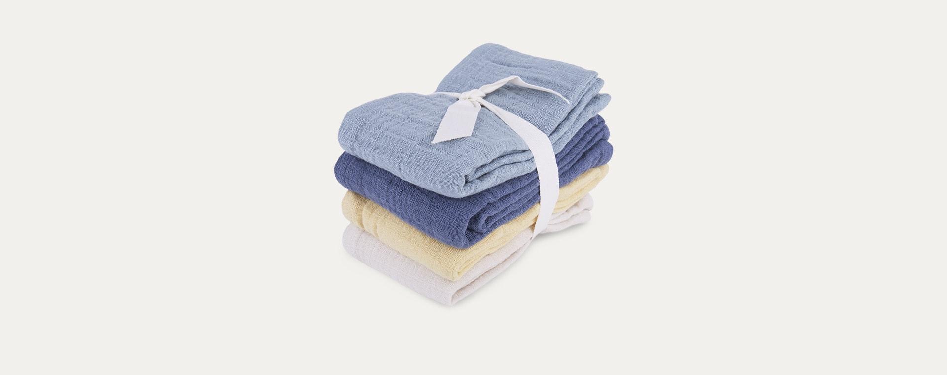 Blue Mix Liewood Leon Muslin Cloth 4 Pack