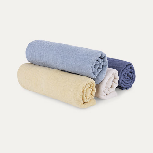 Blue Mix Liewood Leon Muslin Cloth 4 Pack
