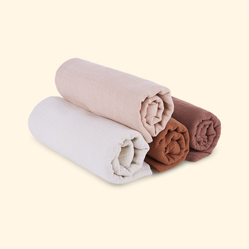 Rose Mix Liewood Leon Muslin Cloth 4 Pack