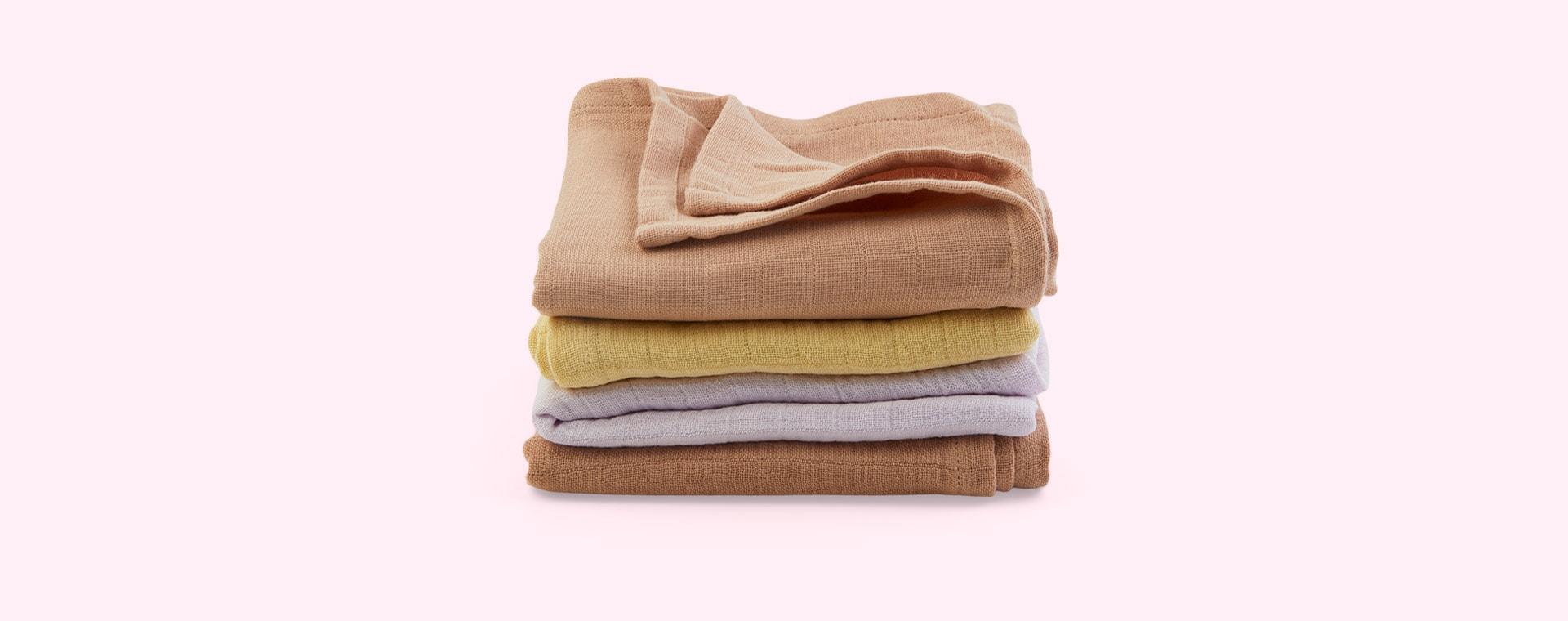 Light Lavender Multi Mix Liewood 4-Pack Leon Muslin Cloth