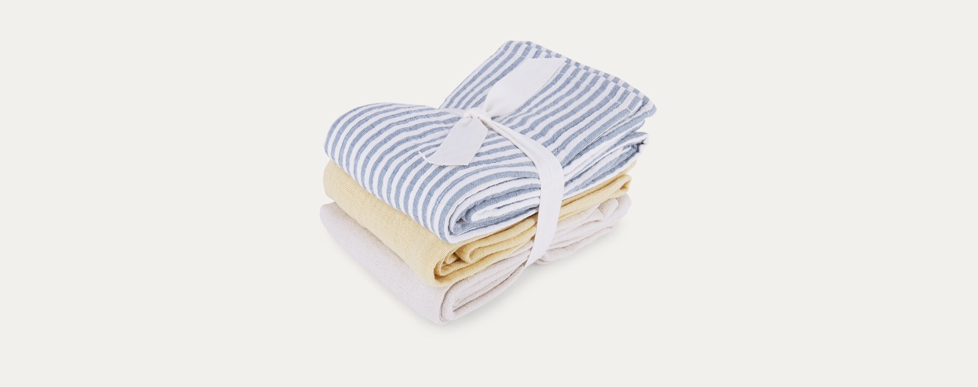 Sea Blue Stripe Mix Liewood Line Muslin Cloth 3 Pack