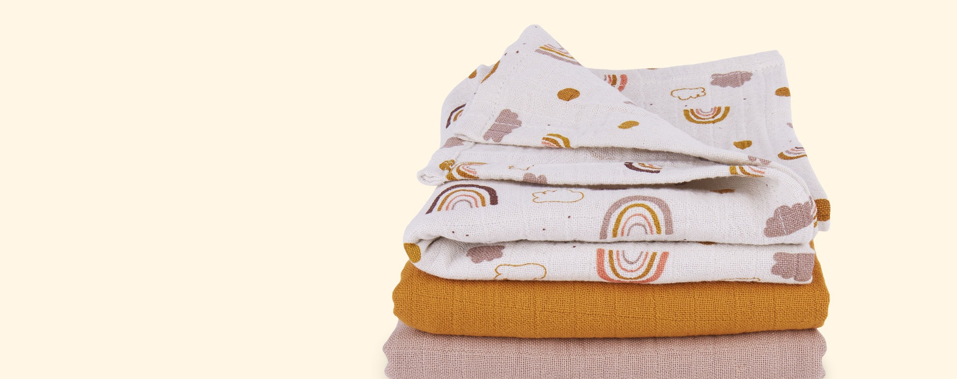 Rainbow Love Mix Liewood Line Muslin Cloth 3 Pack