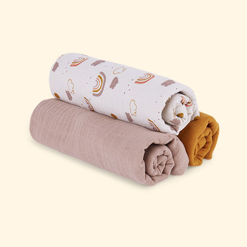 Rainbow Love Mix Liewood Line Muslin Cloth 3 Pack