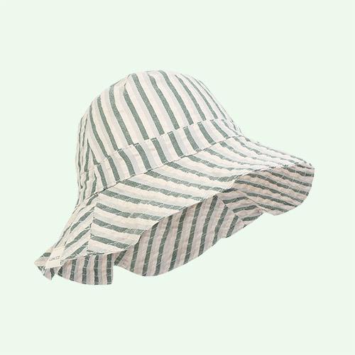 Garden green/sandy/dove blue Liewood Sander Sun Hat