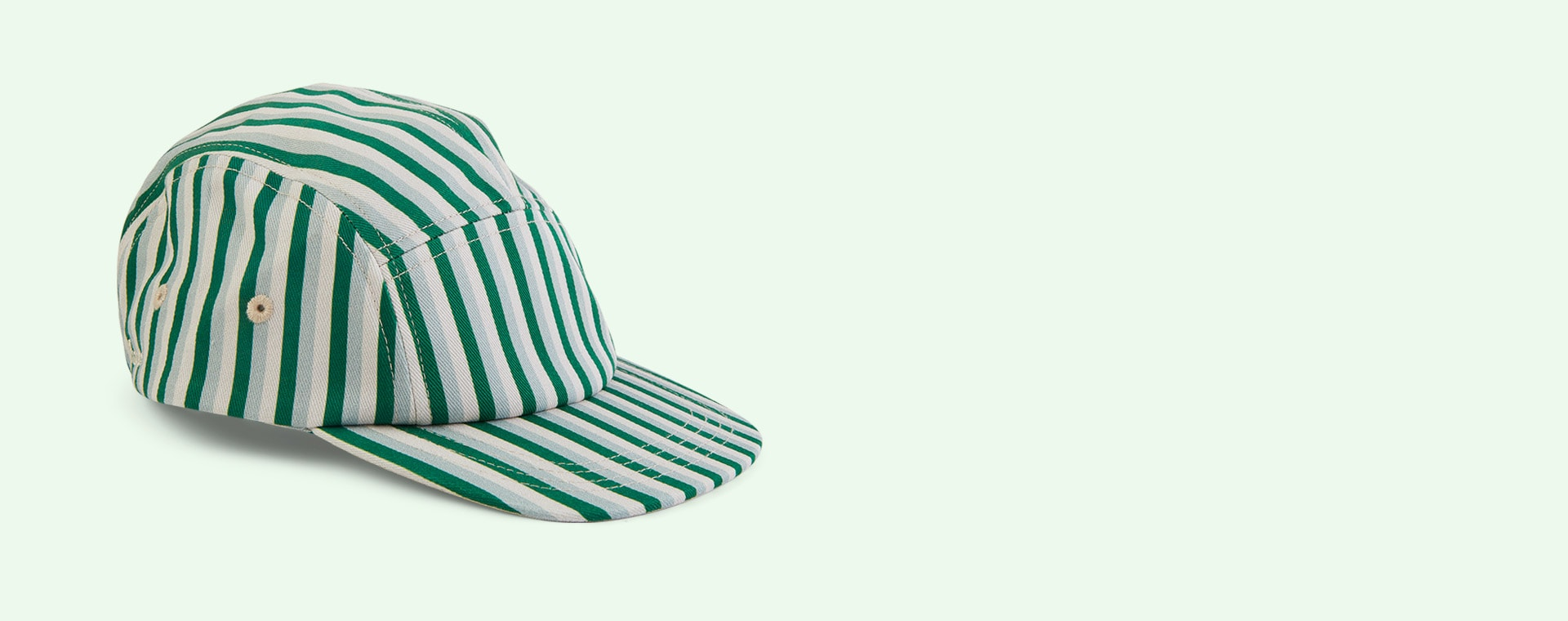 Stripe: Garden Green Multi Liewood Rory Cap