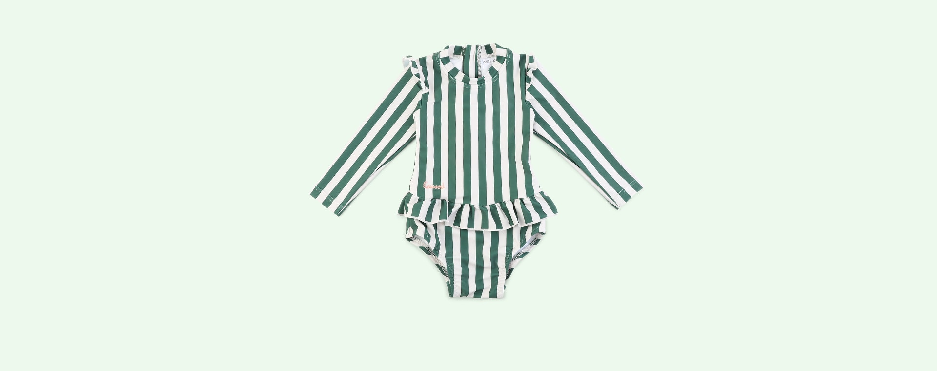Stripe: Garden green/sandy Liewood Sille Swim Jumpsuit