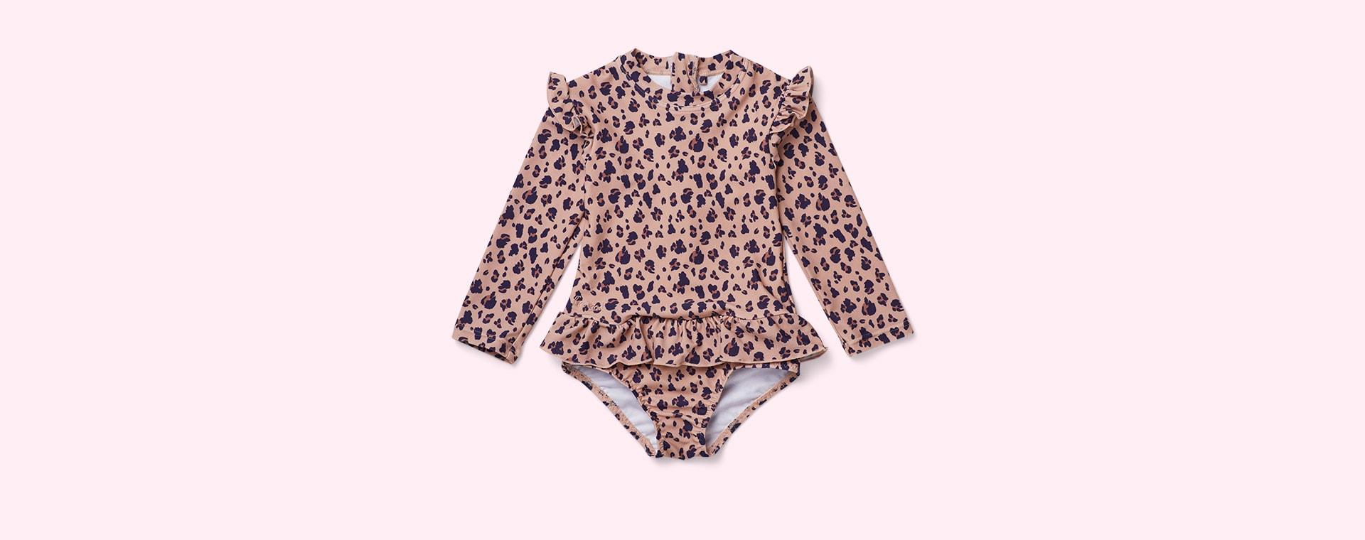 Mini Leo/Coral Blush Liewood Sille Swim Jumpsuit