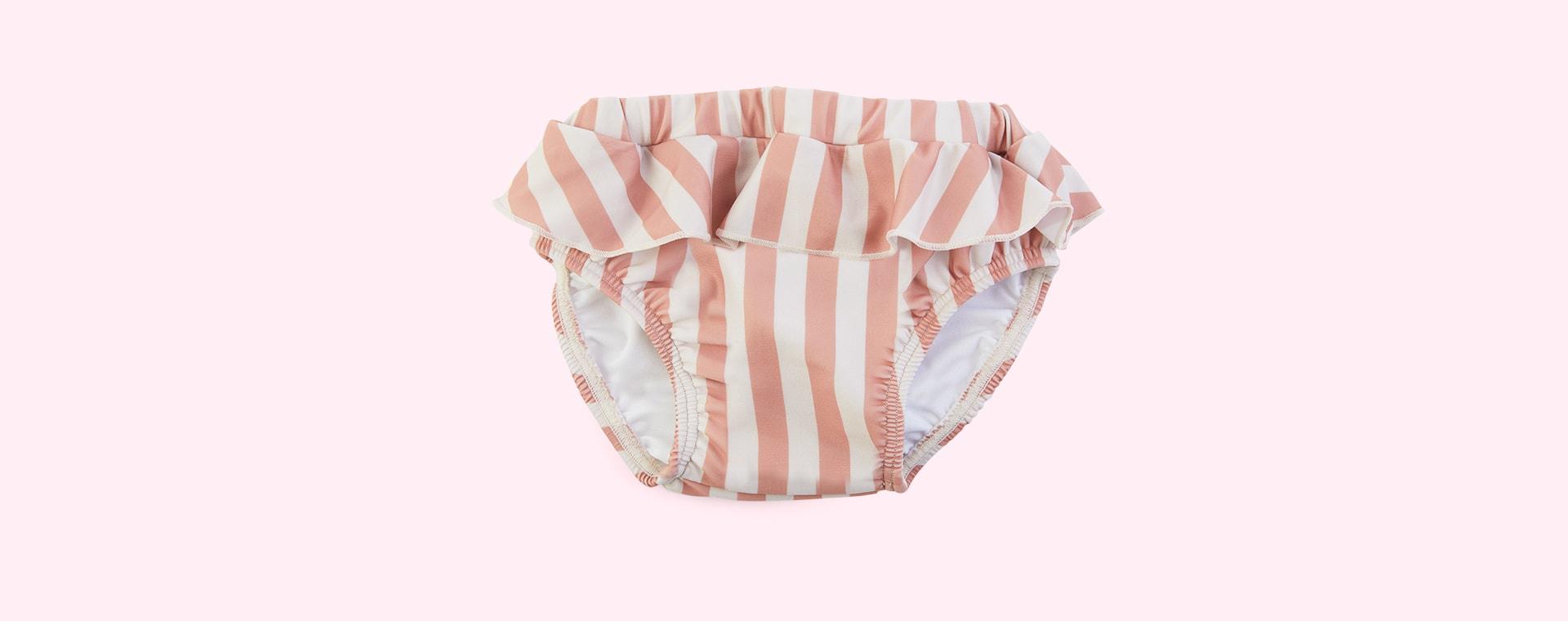 Stripe: Coral blush/creme de la creme Liewood Elise Baby Girl Swim Pants