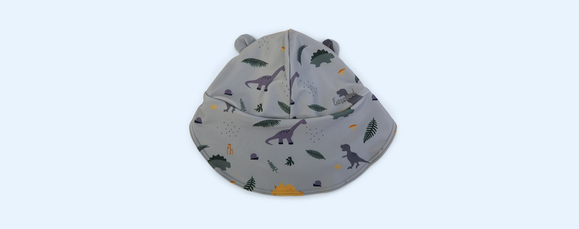 Dino dove blue mix Liewood Senia Sun Hat