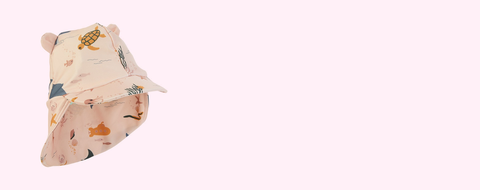 Sea creature rose mix Liewood Senia Sun Hat