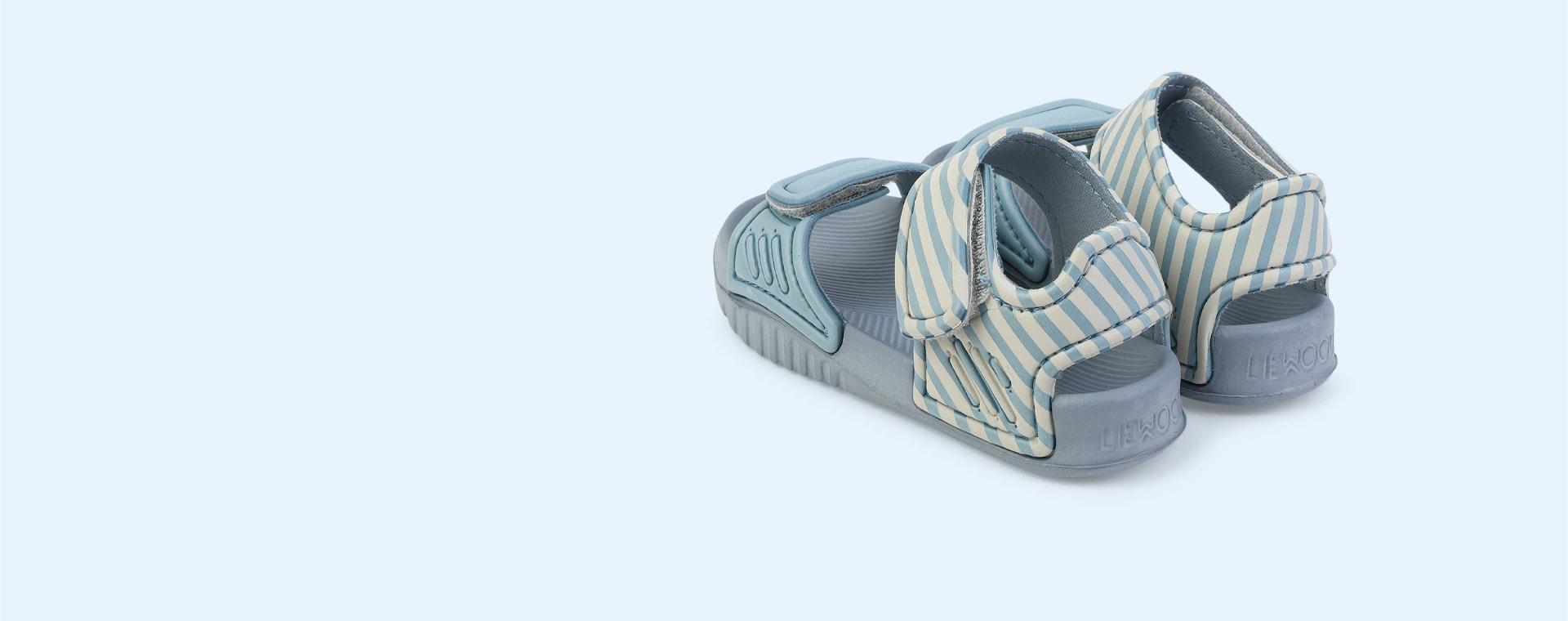 Stripe: Sea blue/sandy Liewood Blumer Sandals