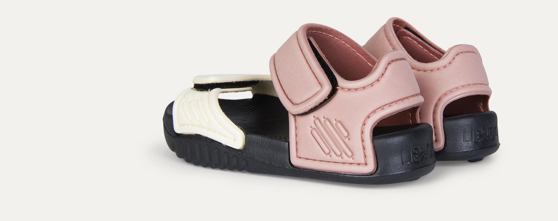 Dark Rose/Black Mix Liewood Blumer Sandals