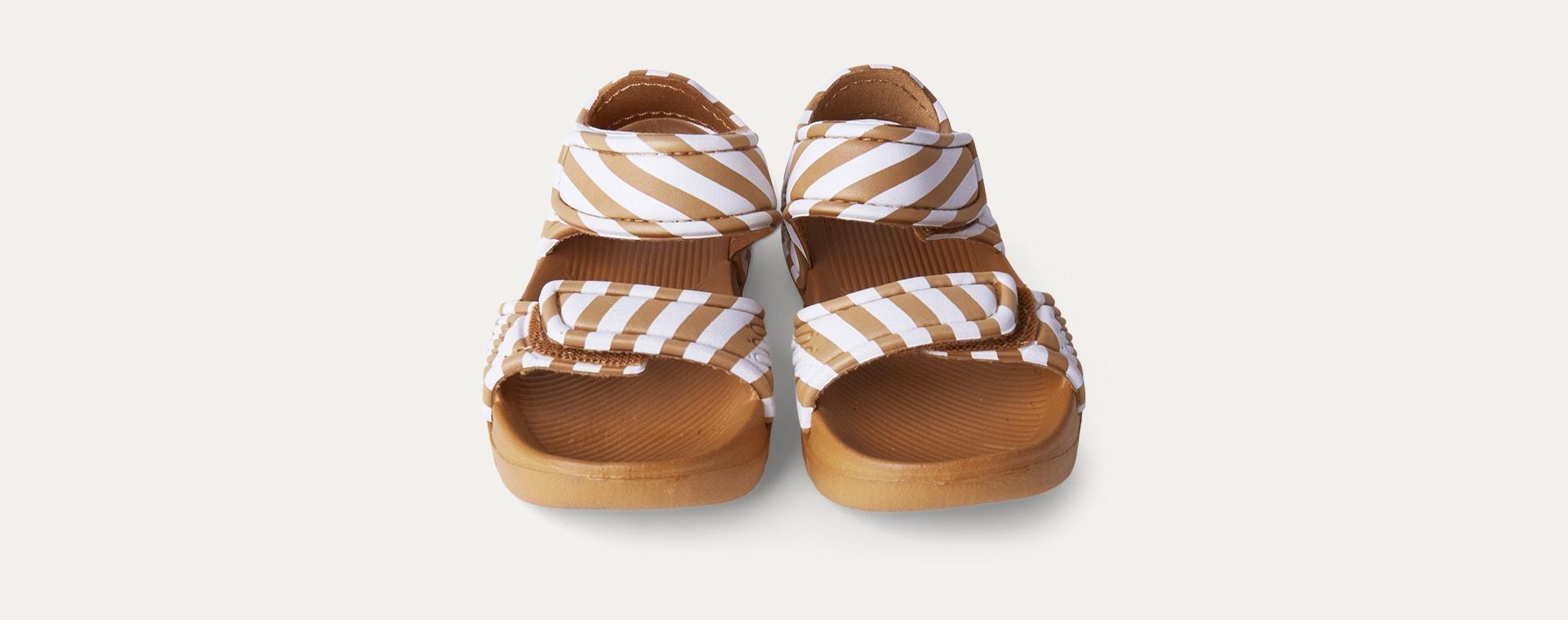 Mustard Stripe Liewood Blumer Sandals