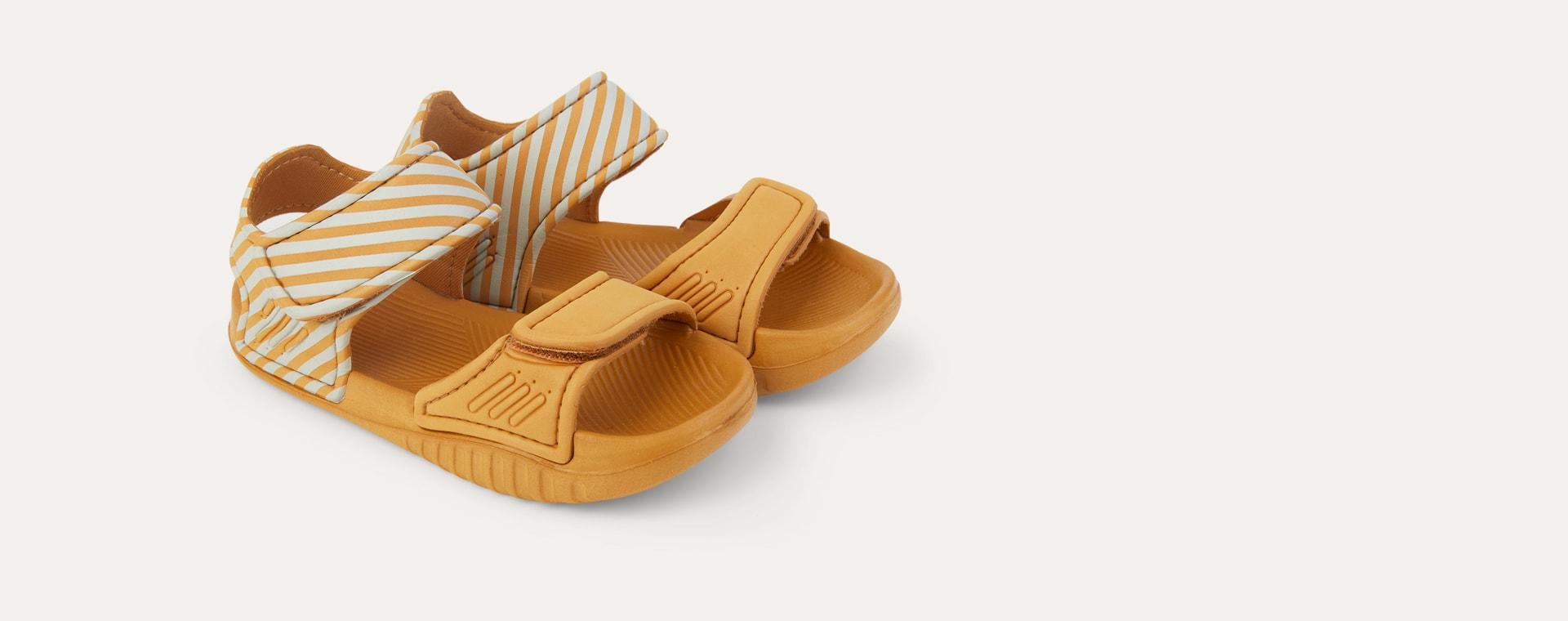 Stripe: Mustard/sandy Liewood Blumer Sandals