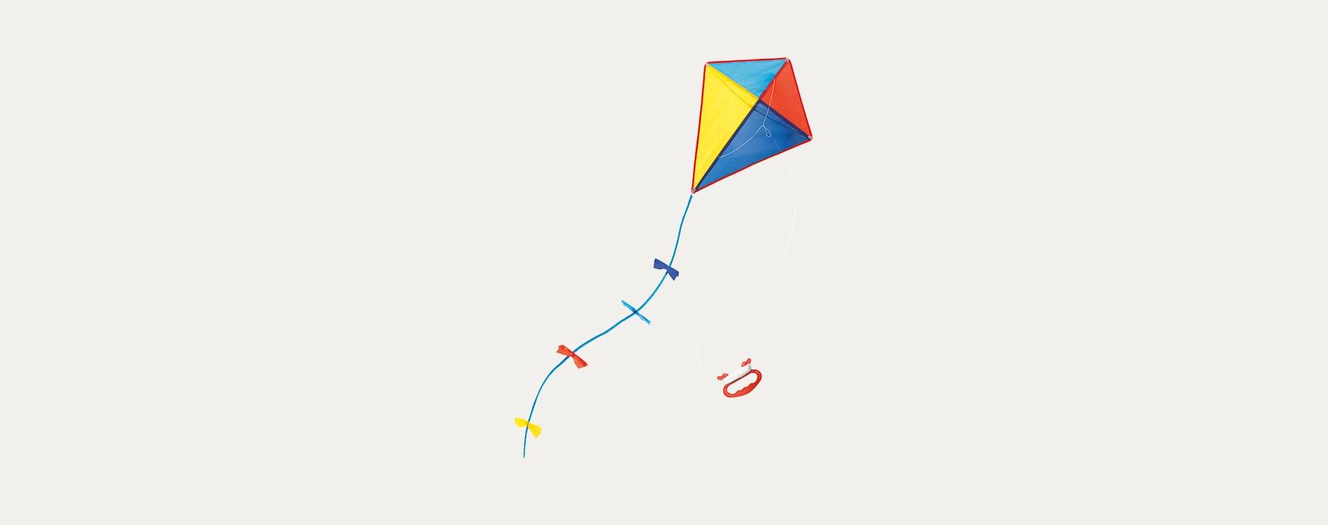 Multi Moulin Roty Multi Coloured Kite
