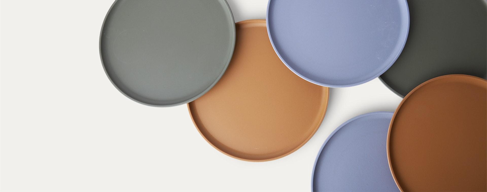 Blue Multi Mix Liewood Patrick Bamboo Plates