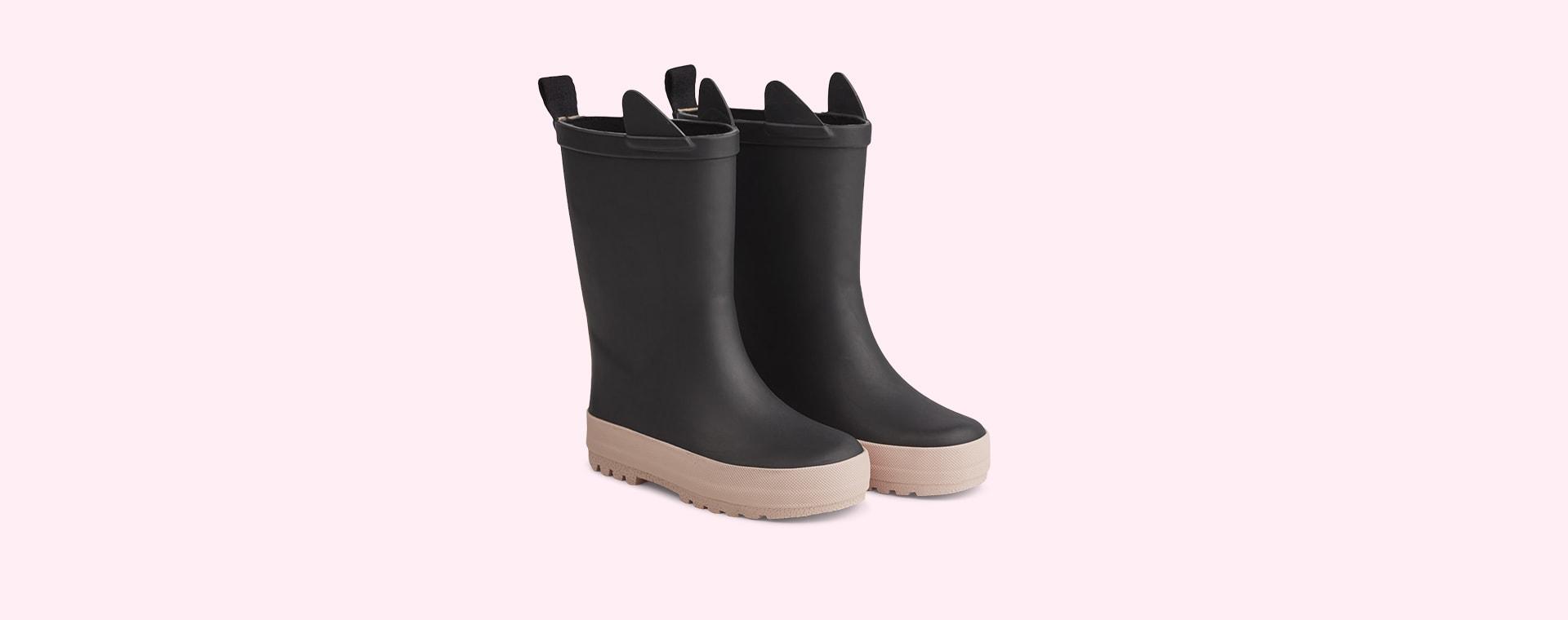 Black/Rose Mix Liewood River Rain Boot