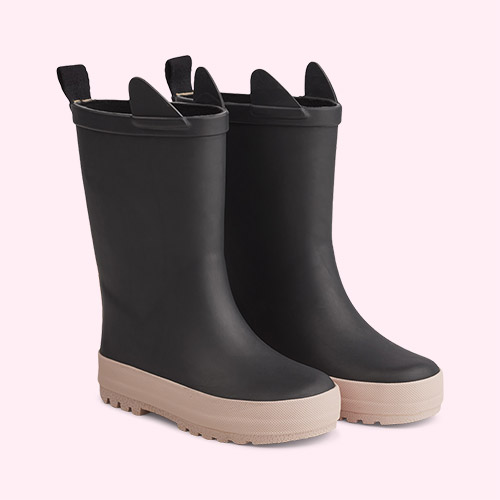 Black/Rose Mix Liewood River Rain Boot