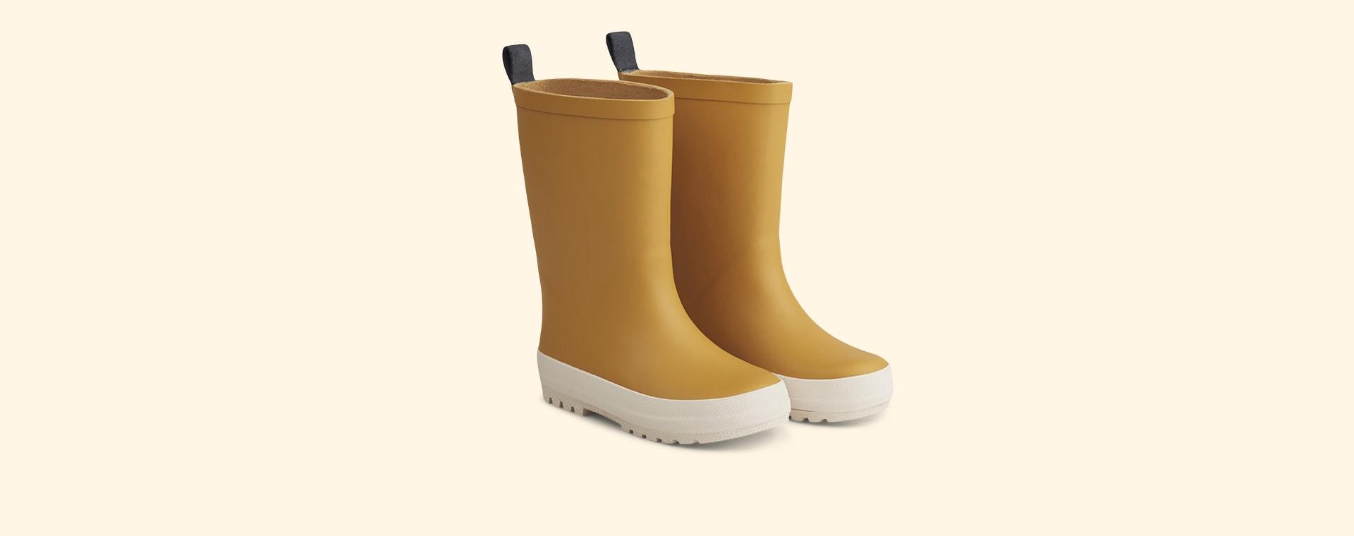 Yellow Mellow/Creme De La Creme Liewood River Rain Boot